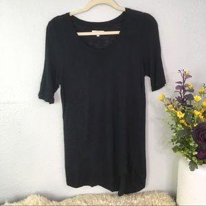 Madewell tunic tee shirt scoop neck black